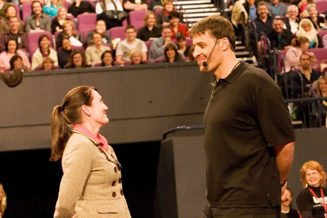 Tony Robbins is 6,7 tall, yet he has been in my pocket since 2005!